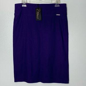 Velucci Royal Purple Stetch Pencil Skirt - XL